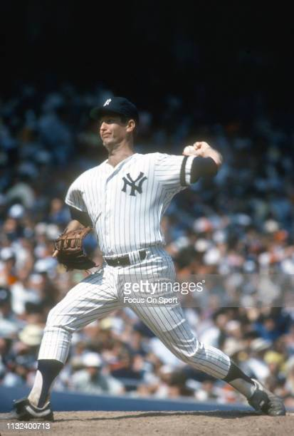 Tommy John of the New York Yankees pitches during a Major League Baseball game circa 1980 at Yankee Stadium in the Bronx borough of New York City...