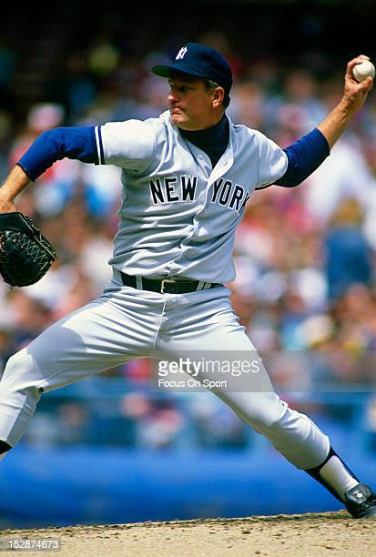 Tommy John of the New York Yankees pitches during an Major League Baseball game circa 1982 John played for the Yankees from 197982 and 198689