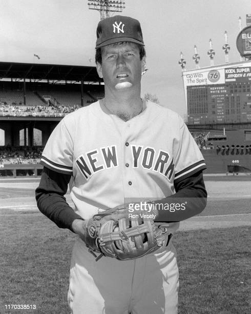 Tommy John of the New York Yankees poses before a MLB game at Comiskey Park in Chicago, Illinois. John played for the Yankees from 1979-1982 and...