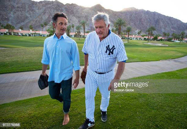 Tommy John, right, the 4 time All Star Major League Baseball pitcher who won 288 games, walks with his son Tommy John III, a chiropractor with a...