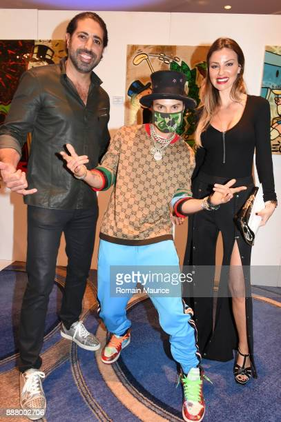 Tommy Kato Alec Monopoly and Marianne Dieterich Haute Living's VIP PopUp Opening Of Alec Monopoly From Art Life And David Yarrow From Maddox Gallery...