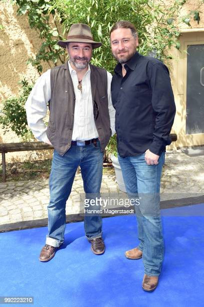 Tommy Krappweis and his brother Nico Krappweis attend the FFF reception during the Munich Film Festival 2018 at Praterinsel on July 5 2018 in Munich...