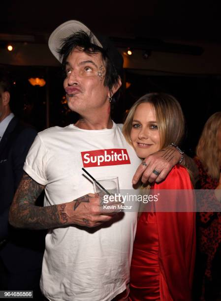 Tommy Lee and Alicia Silverstone attend the 'American Woman' premiere party at Chateau Marmont on May 31 2018 in Los Angeles California