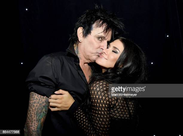 Tommy Lee and Brittany Furlan at the 2017 Streamy Awards at The Beverly Hilton Hotel on September 26 2017 in Beverly Hills California