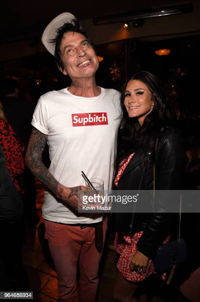 Tommy Lee and Brittany Furlan attend the American Woman premiere party at Chateau Marmont on May 31 2018 in Los Angeles California