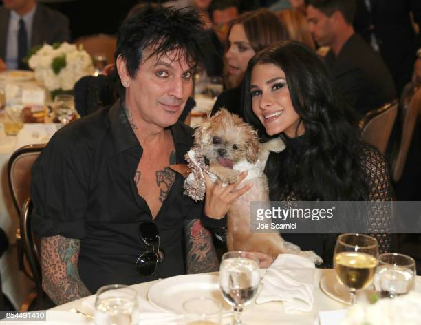 Tommy Lee and Brittany Furlan attend the 2017 Streamy Awards at The Beverly Hilton Hotel on September 26 2017 in Beverly Hills California