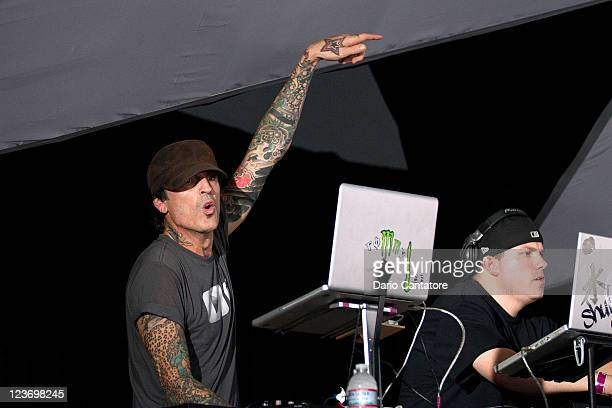 Tommy Lee and DJ Aero performs during 2011 Electric Zoo at Randall's Island Park on September 3 2011 in New York City