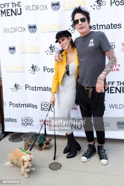 Tommy Lee and Fiance Brittany Furlan attend the Los Angeles Times Food Bowl Secret Burger Showdown at Wallis Annenberg Center for the Performing Arts...