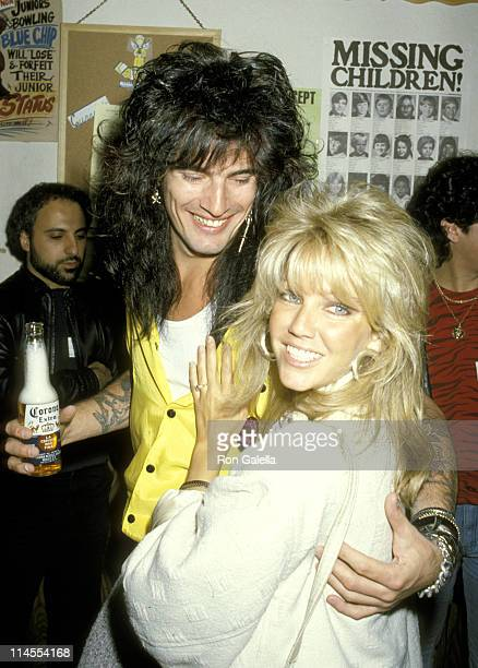 Tommy Lee and Heather Locklear during 4th Annual Rock Bowl Tournament For The TJ Martel Foundation at Calabasas Country Club in Calabasas California...