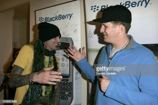 Tommy Lee and Michael Rapaport at the BlackBerry 8700c Self Magazine Lounge