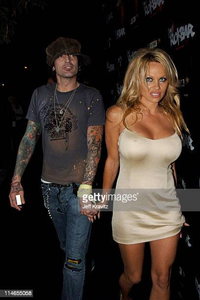 Tommy Lee and Pamela Anderson during Rokbar Hollywood Launch Party Red Carpet at Rokbar in Los Angeles California United States