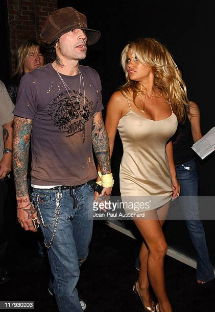 Tommy Lee and Pamela Anderson during Rokbar Hollywood Launch Party Arrivals at Rokbar Hollywood in Hollywood California United States