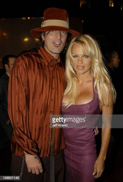 Tommy Lee and Pamela Anderson during Scary Movie 3 Los Angeles Premiere at AMC Theatres Avco Cinema in Westwood California United States