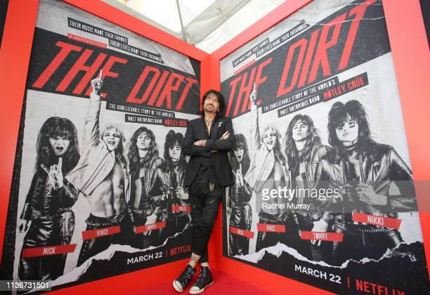 Tommy Lee attends the premiere of Netflix's 'The Dirt' at the Arclight Hollywood on March 18 2019 in Hollywood California