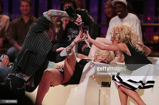 Tommy Lee Courtney Love and Pamela Anderson during Comedy Central Roast of Pamela Anderson Show at Sony Studios in Culver City California United...