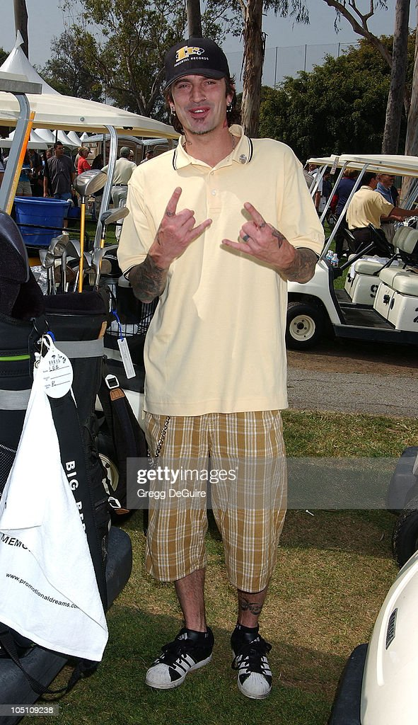 Tommy Lee during 32nd Annual LAPD Celebrity Golf Tournament at Rancho Park in Los Angeles, California, United States.