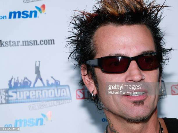 Tommy Lee during Rockstar Supernova Season 2 Premiere Party at Roxy Theatre in West Hollywood California United States