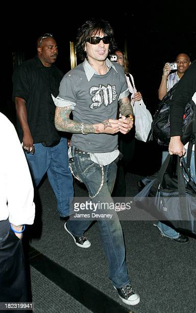 Tommy Lee during Tommy Lee Stops by Late Night with Conan O'Brien - August 12, 2005 at Rockafeller Center in New York City, New York, United States.