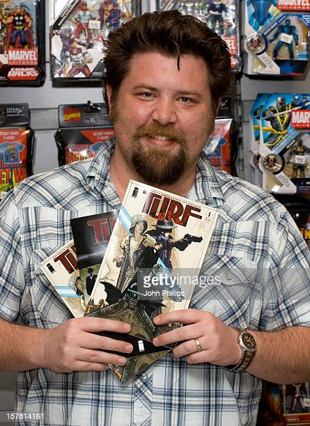 Tommy Lee Edwards Signs Copies Of Turf At Forbidden Planet Megastore On Shaftesbury Avenue In London
