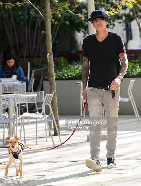 Tommy Lee is seen walking is Dog in Soho on October 27 2014 in New York City