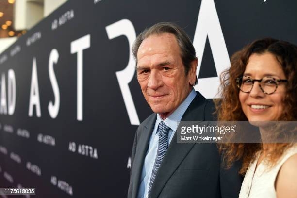Tommy Lee Jones and Dawn LaurelJones attend the premiere of 20th Century Fox's Ad Astra at The Cinerama Dome on September 18 2019 in Los Angeles...