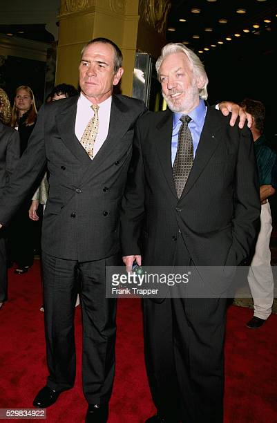 Tommy Lee Jones and Donald Sutherland