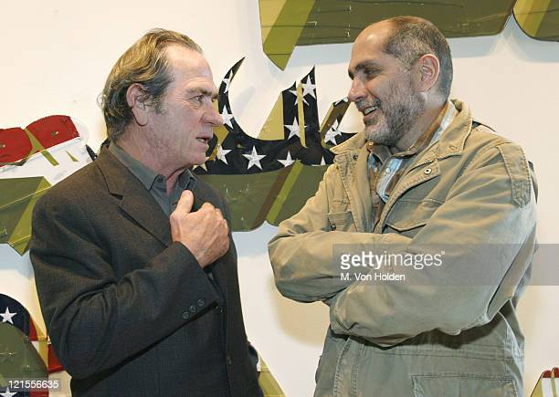 """Tommy Lee Jones and Guillermo Arriaga during The 9th Annual SCAD Savannah Film Festival """"Porch Talk"""" with Guillermo Arriaga and Tommy Lee Jones -..."""
