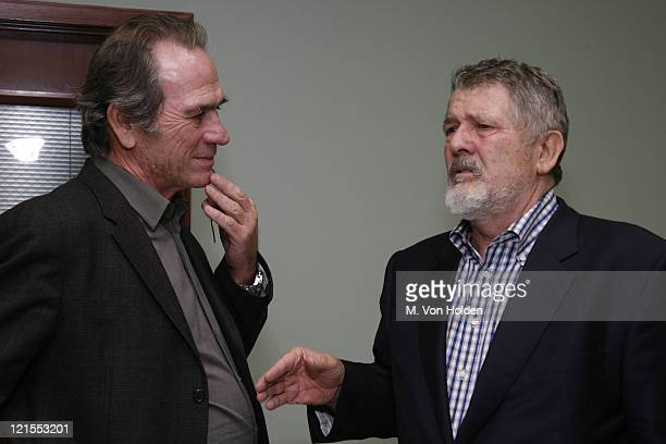 """Tommy Lee Jones and Walter Hill during The 9th Annual SCAD Savannah Film Festival- """"The Three Burials of Melquiades Estrada"""" Screening - Inside and..."""
