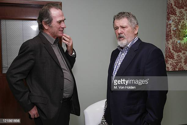 Tommy Lee Jones and Walter Hill during The 9th Annual SCAD Savannah Film Festival 'The Three Burials of Melquiades Estrada' Screening Inside and...