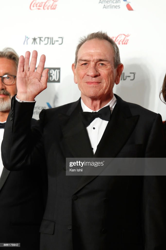 Tommy Lee Jones attends the red carpet of the 30th Tokyo International Film Festival at Roppongi Hills on October 25, 2017 in Tokyo, Japan.