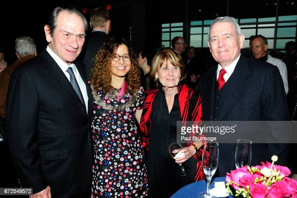 Tommy Lee Jones Dawn LaurelJones Jean Goebel and Dan Rather attend International Center of Photography 33rd Annual Infinity Awards at Pier Sixty at...