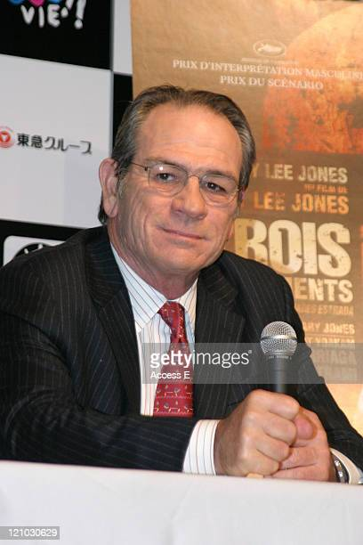 """Tommy Lee Jones during 18th Tokyo International Film Festival - """"The Three Burials of Melquiades Estrada"""" Press Conference in Tokyo, Japan."""