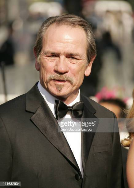 Tommy Lee Jones during 2005 Cannes Film Festival The Three Burials of Melquiades Estrada Premiere at Palais de Festival in Cannes France
