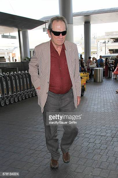 Tommy Lee Jones is seen at LAX on July 20 2016 in Los Angeles California