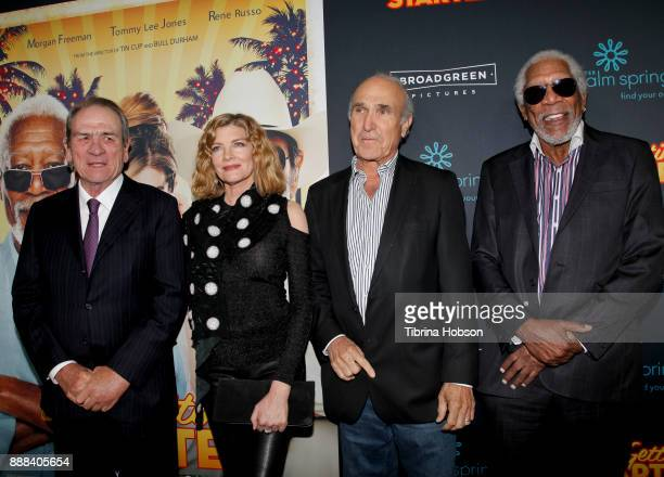 Tommy Lee Jones Rene Russo Ron Shelton and Morgan Freeman attend the premiere of 'Just Getting Started' at ArcLight Hollywood on December 7 2017 in...