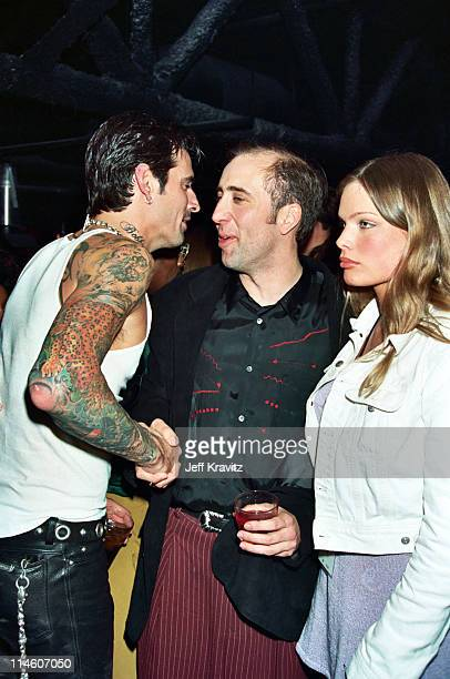 Tommy Lee Nicolas Cage and Kristen Zang during Hard Rock Cafe Opening Night Party at Hard Rock Cafe in Las Vegas Nevada United States