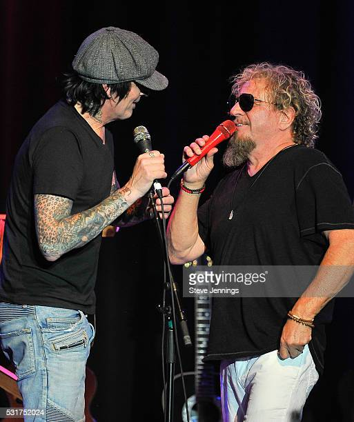 Tommy Lee of Motley Crue and Sammy Hagar perform at the 3rd Annual Acoustic4ACure concert a Benefit for the Pediatric Cancer Program at UCSF Benioff...