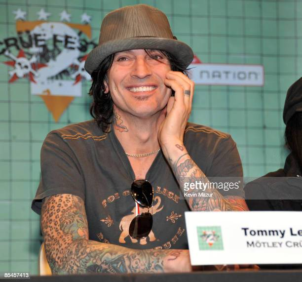 Tommy Lee of Motley Crue attend the Crue Fest 2 line up press conference at Fuse studios on March 16 2009 in New York City