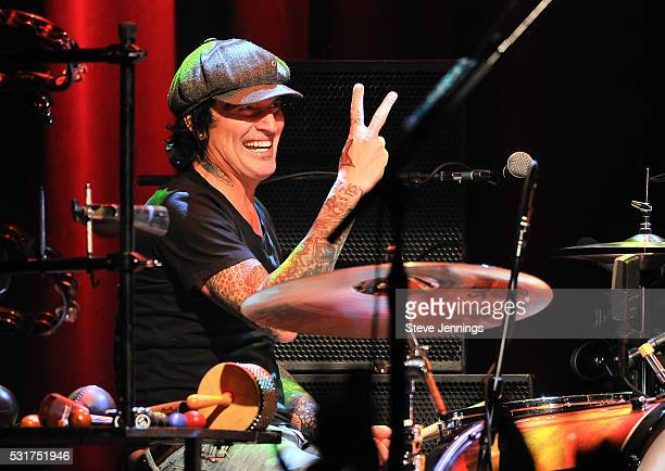 Tommy Lee of Motley Crue performs at the 3rd Annual Acoustic4ACure concert a Benefit for the Pediatric Cancer Program at UCSF Benioff Children's...