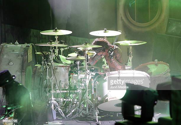Tommy Lee of Motley Crue performs during Crue Fest 2 at Shoreline Amphitheatre on July 30 2009 in Mountain View California