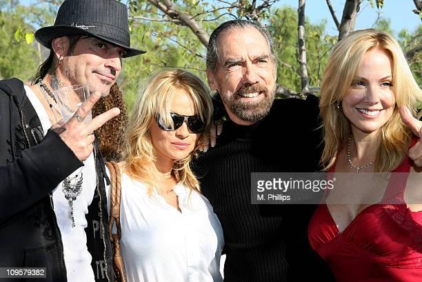 Tommy Lee Pamela Anderson John Paul DeJoria and Eloise DeJoria