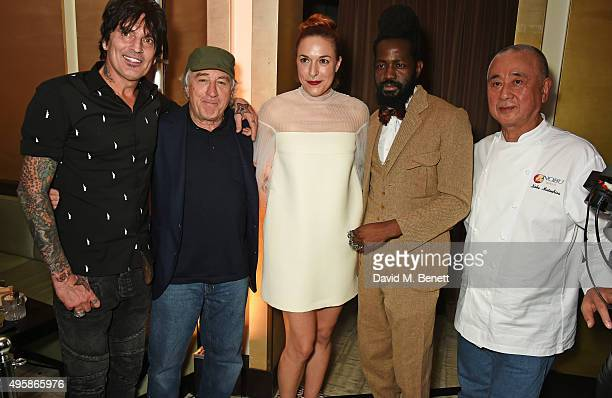Tommy Lee Robert De Niro Mary Alice Malone Creative Director of Malone Souliers Roy Luwolt Managing Director of Malone Souliers and chef Nobu...