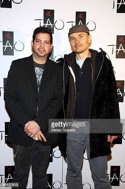 Tommy Lipnick and Billy Corgan arrive at Sasha Grey's 21st Birthday at Tao Las Vegas on March 14 2009 in Las Vegas Nevada