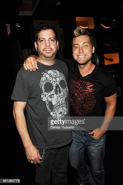 Tommy Lipnick and Lance Bass celebrate Sasha Grey's 21st Birthday at Tao Las Vegas on March 14 2009 in Las Vegas Nevada