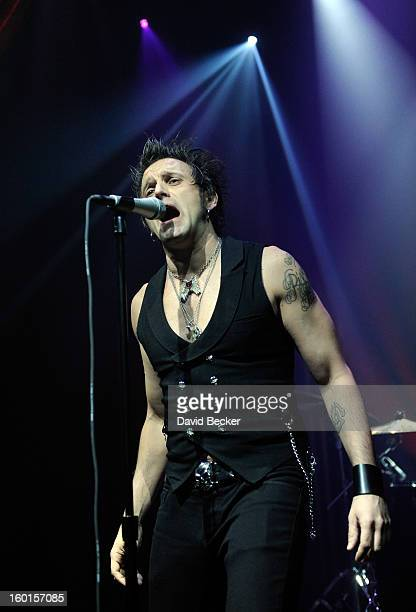 Tommy London of The Dirty Pearls performs during the official Lady Gaga concert after party at The Act at The Palazzo on January 26, 2013 in Las...