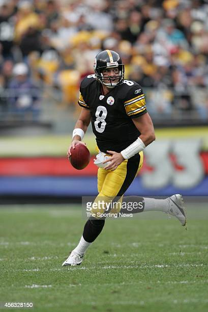 Tommy Maddox of the Pittsburgh Steelers in action during a game against the Jacksonville Jaguars on October 16, 2005 at Heinz Field in Pittsburgh,...