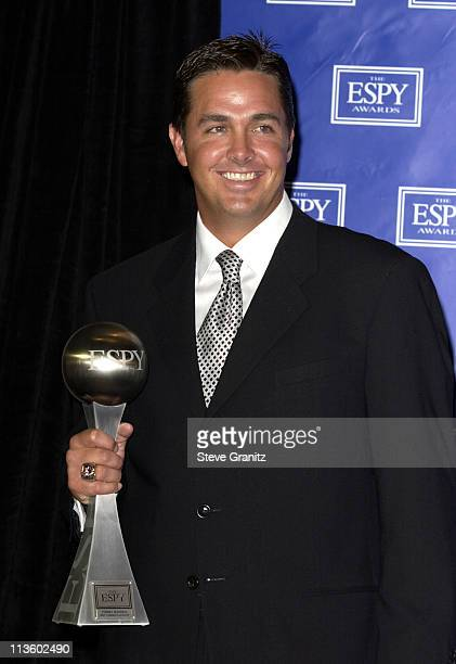 Tommy Maddox, winner of Best Comeback Athlete during 2003 ESPY Awards - Press Room at Kodak Theatre in Hollywood, California, United States.