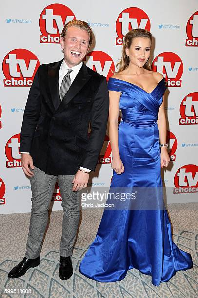 Tommy Mallet and Georgia Kousoulou arrive for the TV Choice Awards at The Dorchester on September 5 2016 in London England