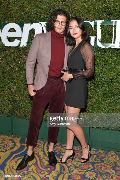 Tommy Martinez and Adeline Rudolph attend Teen Vogue's 2019 Young Hollywood Party Presented By Snap at Los Angeles Theatre on February 15 2019 in Los...