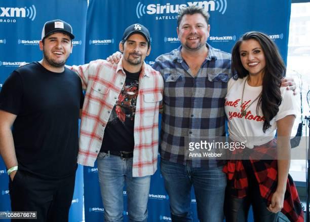 Tommy Massad JR Schumann Brad Paisley Storme Warren and MC Callahan at SiriusXM Nashville at SiriusXM Studios on November 7 2018 in Nashville...
